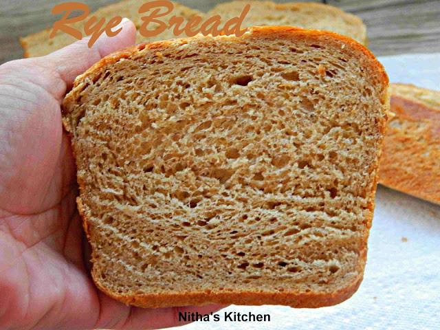 Whole Grain Rye Bread  Nitha Kitchen Tangzhong Rye Bread