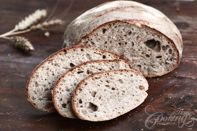 Whole Grain Sourdough Bread  50 Percent Whole Wheat Sourdough Bread Home Cooking