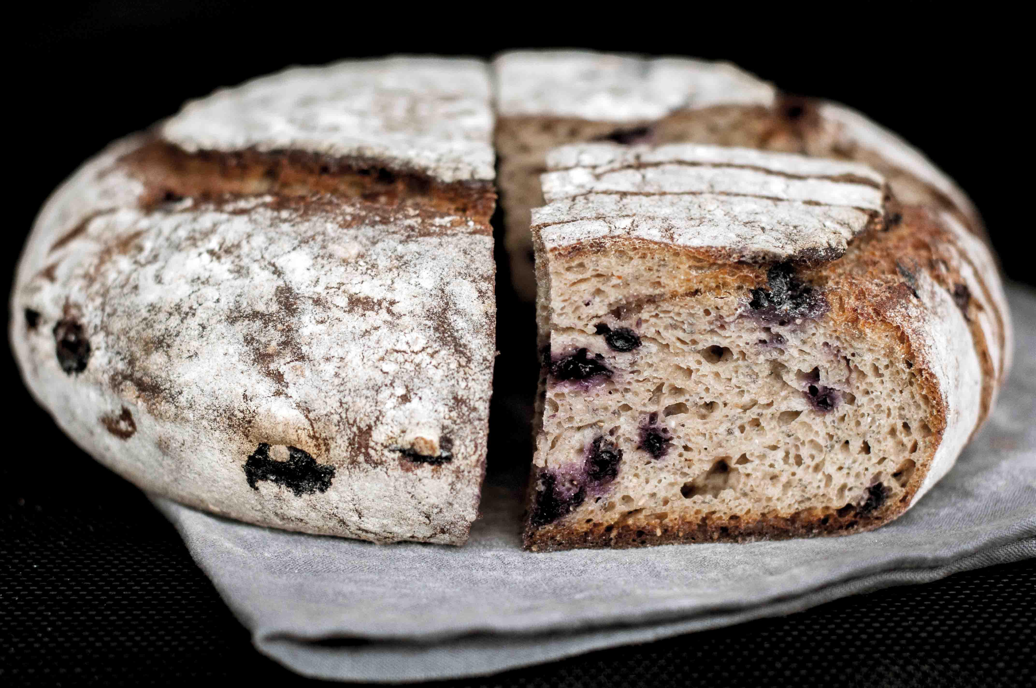 Whole Grain Sourdough Bread  Whole Grain Apple Blueberry Spelt Sourdough with Chia