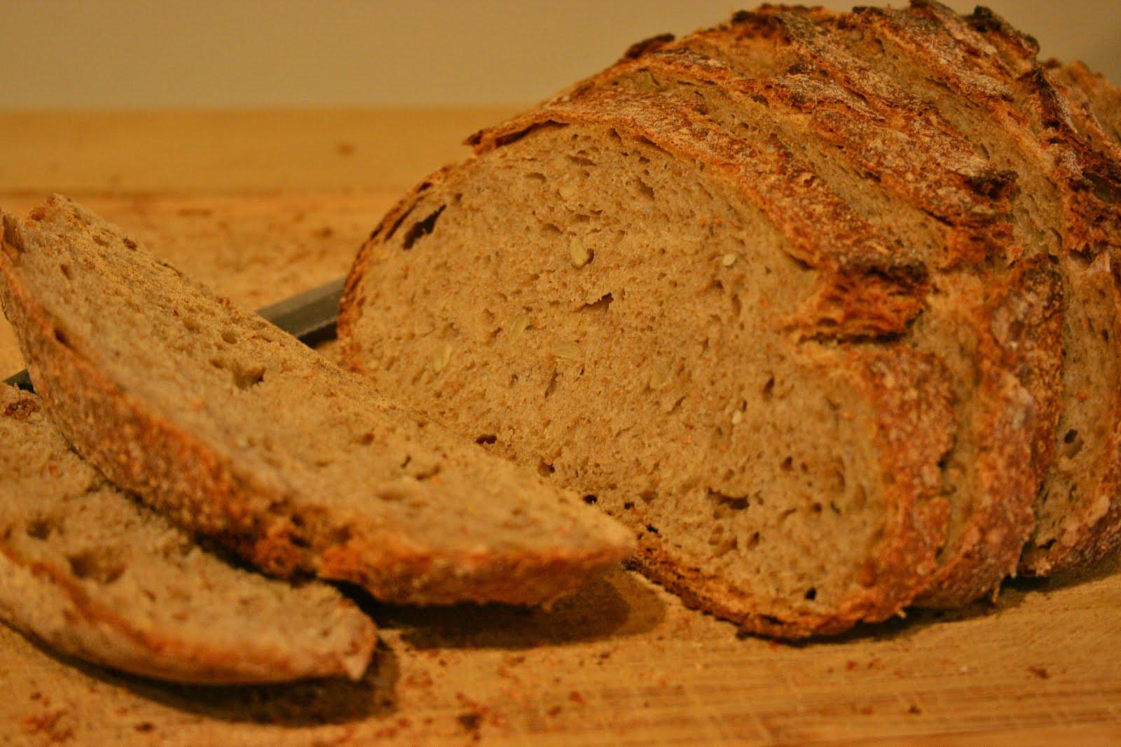 Whole Grain Sourdough Bread  Color Me Green Making Whole Grain Sourdough Bread