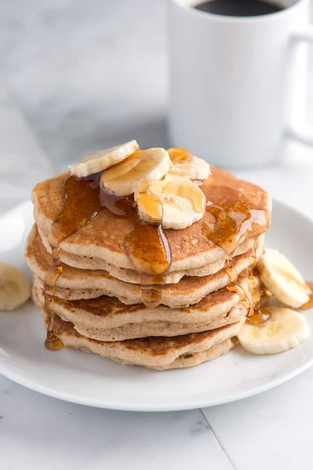 Whole Wheat Pancakes  healthy breakfast