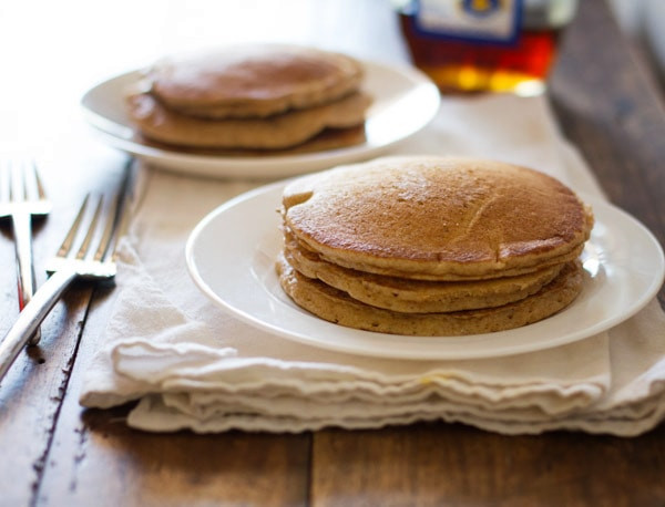 Whole Wheat Pancakes  Whole Wheat Pancakes for Two Recipe Pinch of Yum