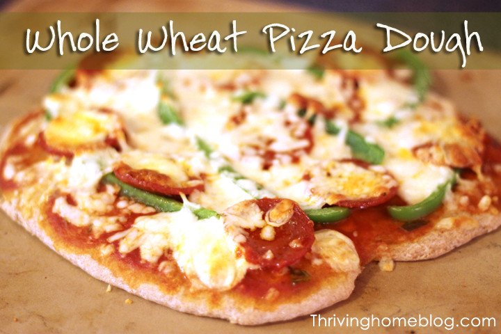 Whole Wheat Pizza Dough Recipe  Whole Wheat Pizza Dough A Bread Machine Recipe