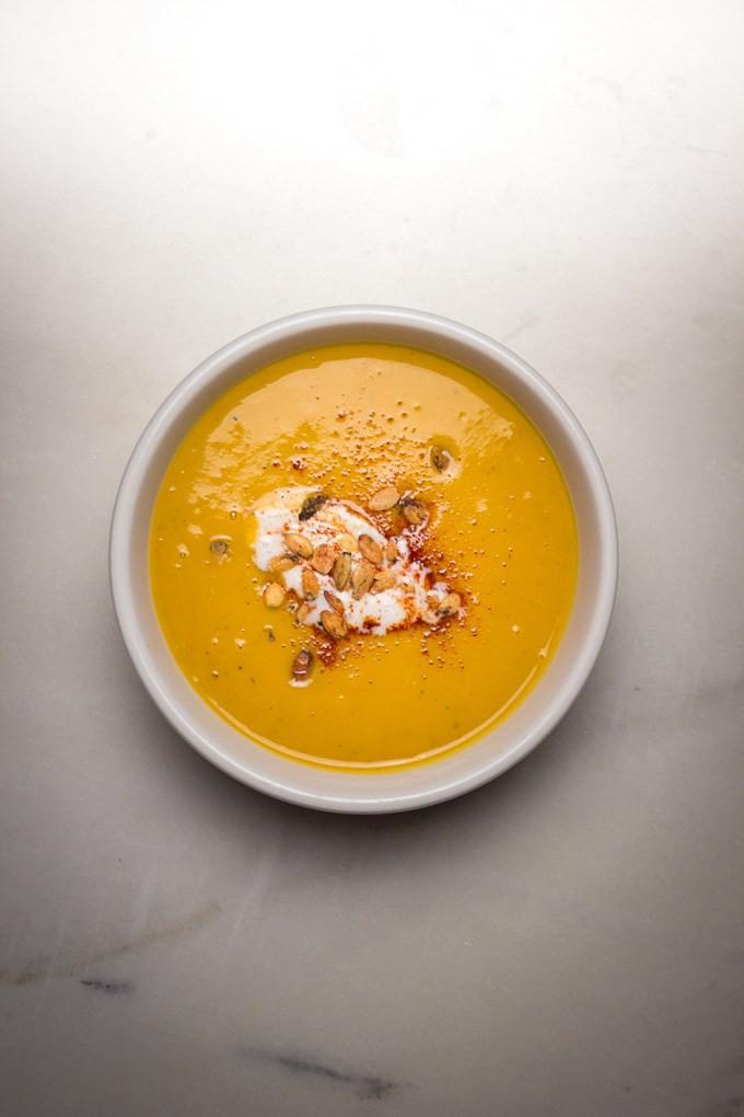 Whole30 Butternut Squash Soup  INSTANT POT CREAMY BUTTERNUT SQUASH APPLE SOUP PALEO