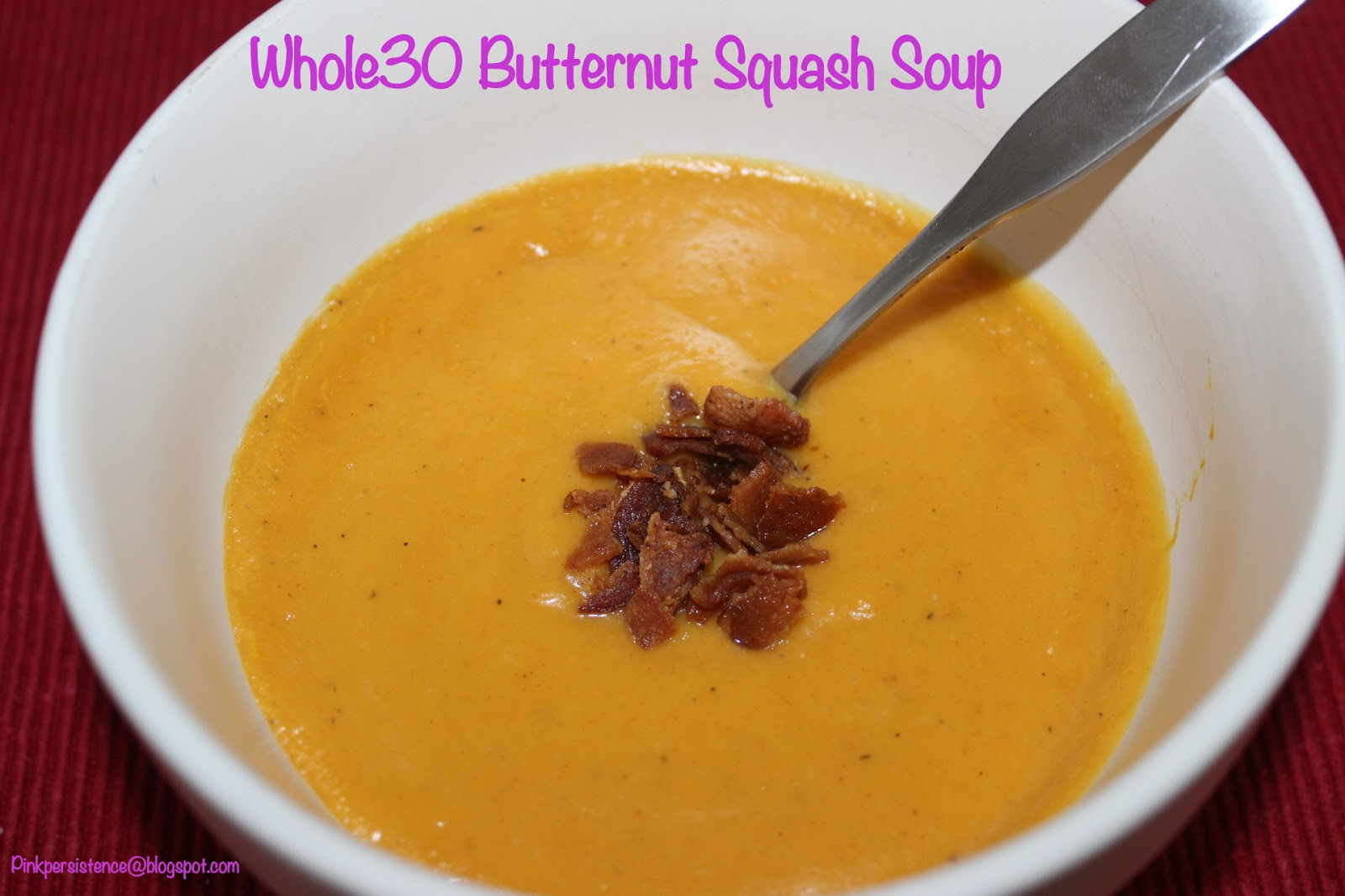 Whole30 Butternut Squash Soup  p nkpers stence Homemade Whole30 Butternut Squash Soup