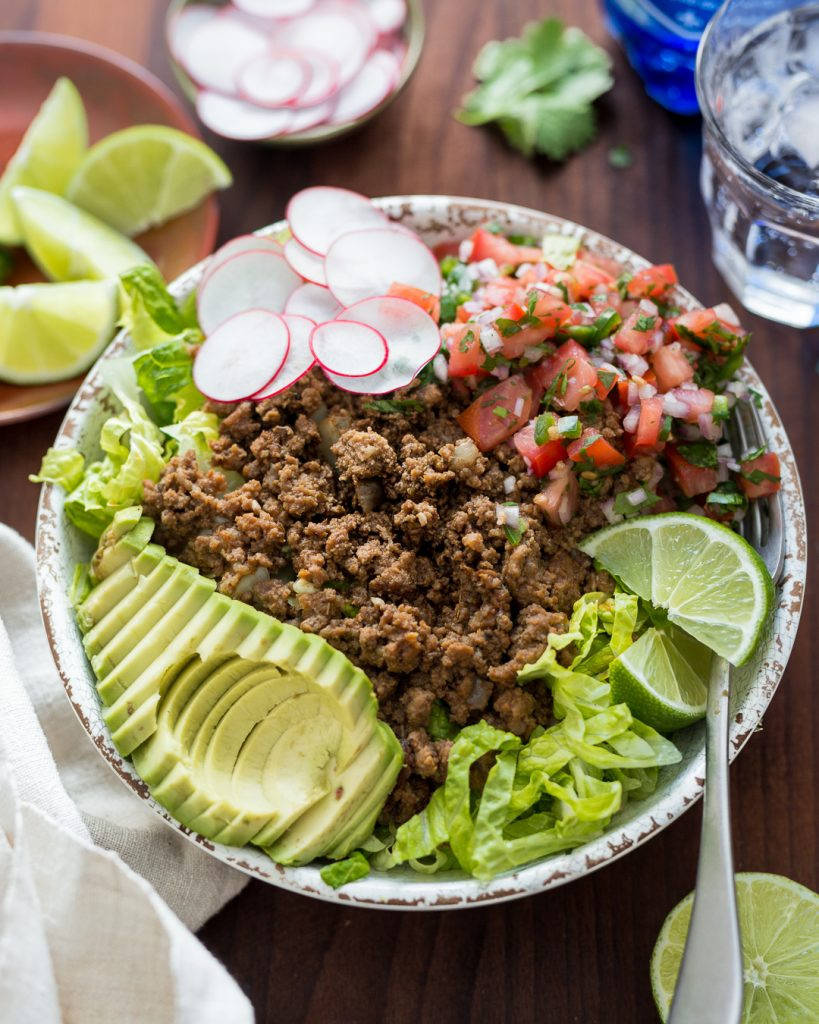 Whole30 Ground Beef Recipes  Whole30 Taco Salad