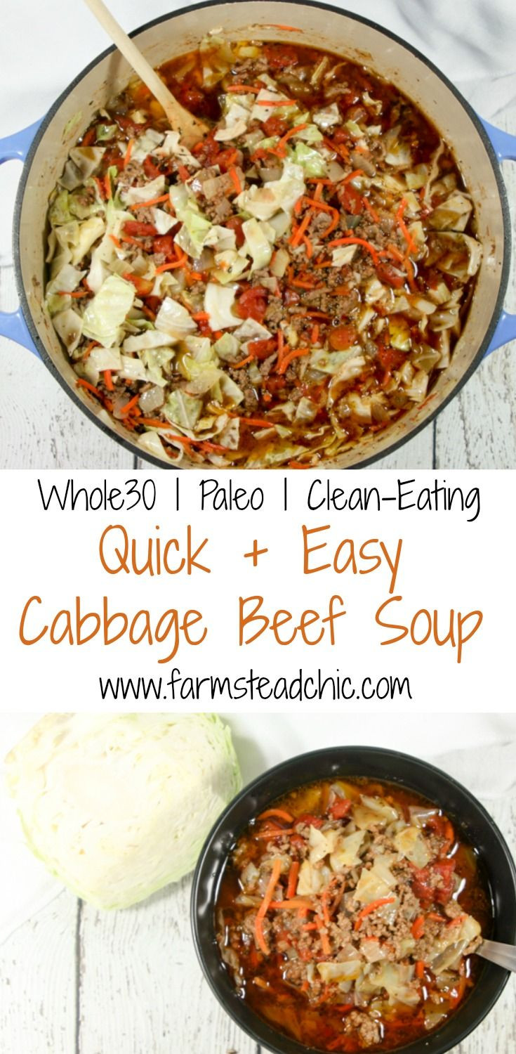 Whole30 Ground Beef Recipes  Best 25 Cabbage soup t ideas on Pinterest