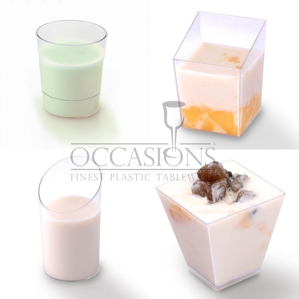 Wholesale Mini Dessert Cups  Disposable Plastic Cups Wholesale