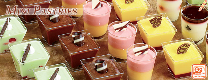 Wholesale Mini Dessert Cups  World Class Wholesale Mini Pastries in LA Southern California