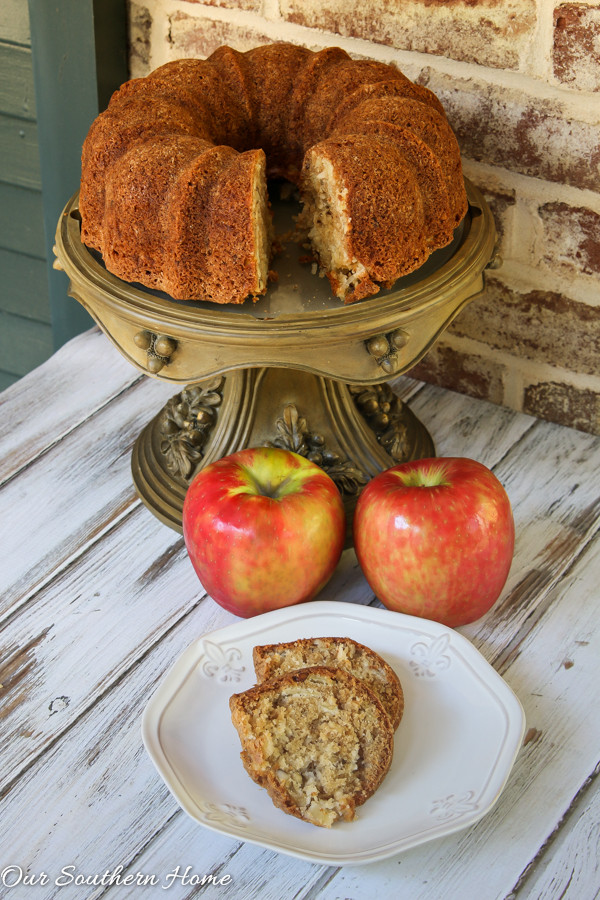 Why Is It Called Pound Cake  Apple Pound Cake Our Southern Home