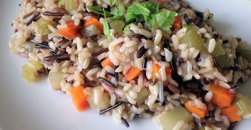 Wild Rice Pilaf Recipe  Easy Wild Rice Pilaf Plant Based Recipe Vegan Oil