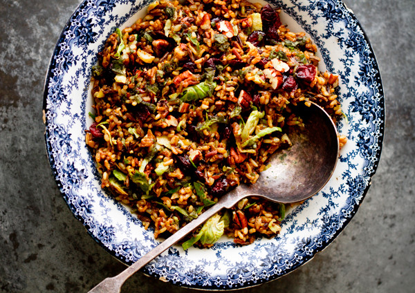 Wild Rice Pilaf Recipe  Wild Rice Pilaf with Brussels Sprouts & Sage Dressing