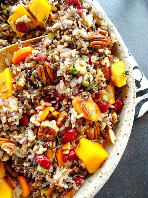 Wild Rice Pilaf Recipe  Wild Rice Pilaf with Squash Cranberries and Pecans – Good