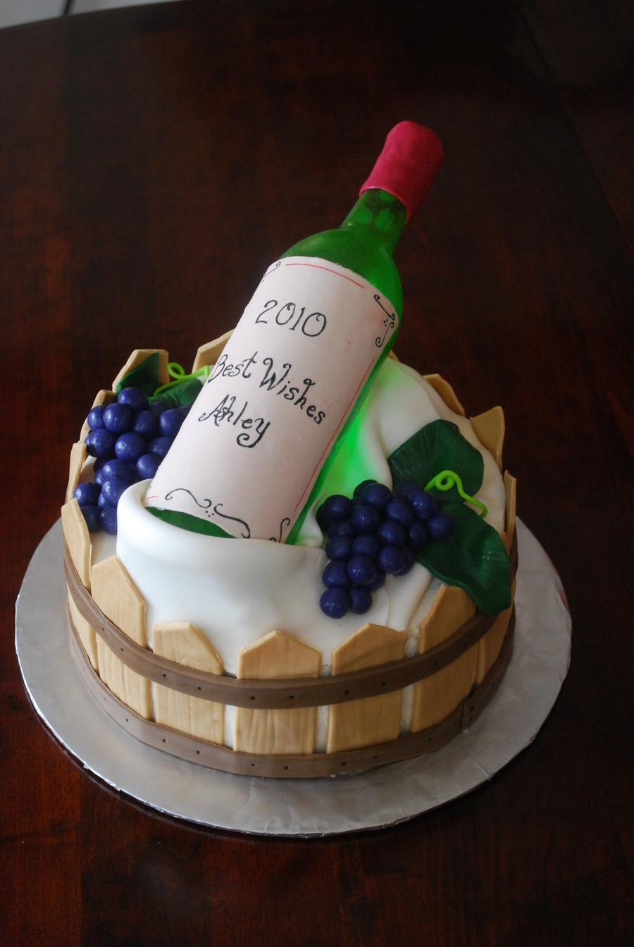 Wine Birthday Cake  Wine Bottle Cake CakeCentral