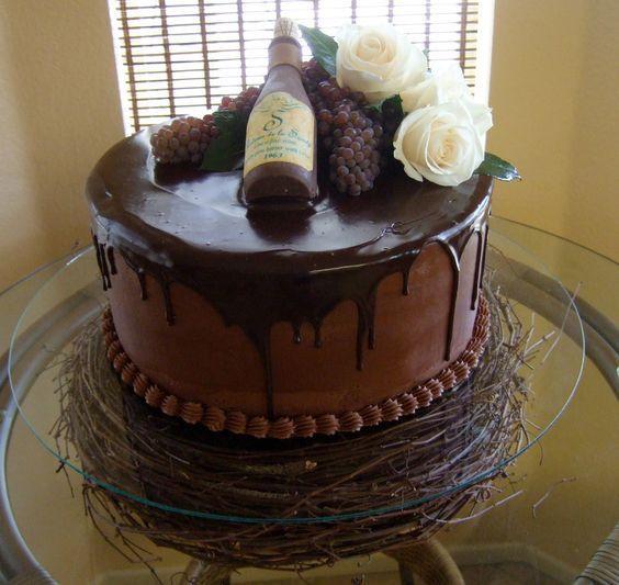 Wine Birthday Cake  Wine Bottle Shaped Birthday Cake
