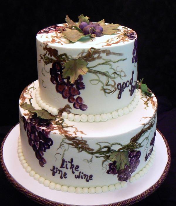 Wine Birthday Cake  Top Wine Inspired Cakes CakeCentral