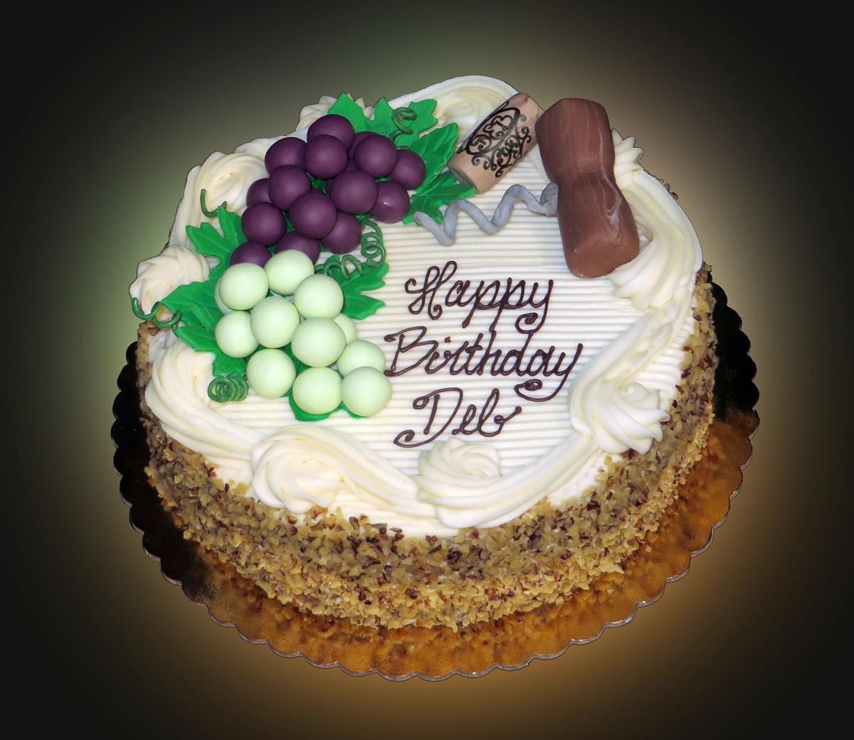 Wine Birthday Cake  Wine Lovers Birthday Cake Sweet Somethings Desserts