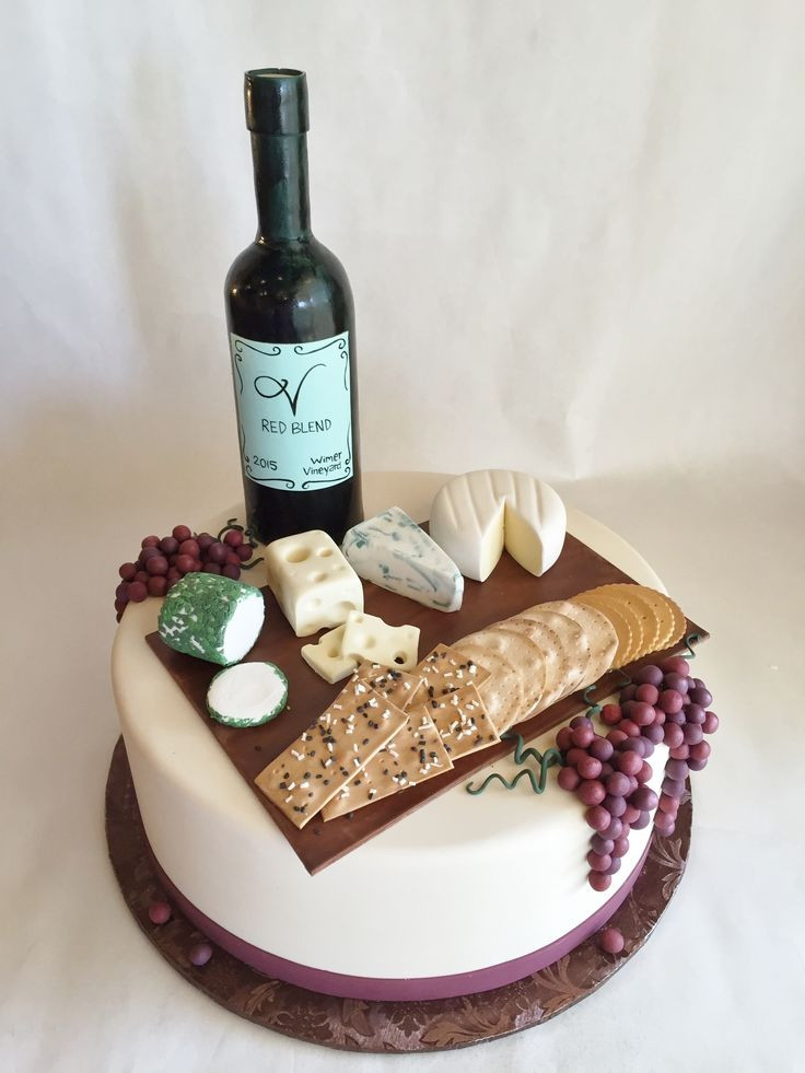 Wine Birthday Cake  17 Best ideas about Wine Cakes on Pinterest