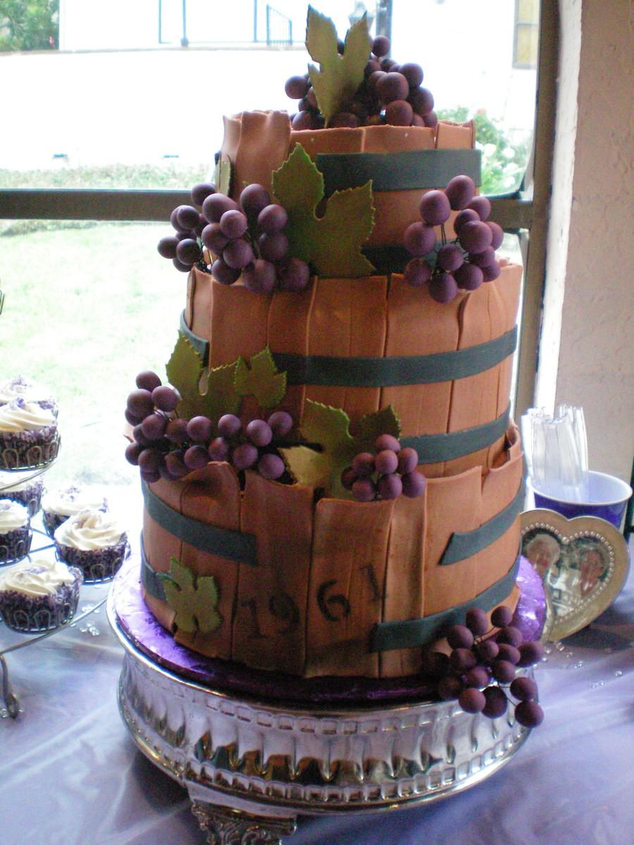 Wine Birthday Cake  Age Like Wine 50Th Birthday Cake CakeCentral