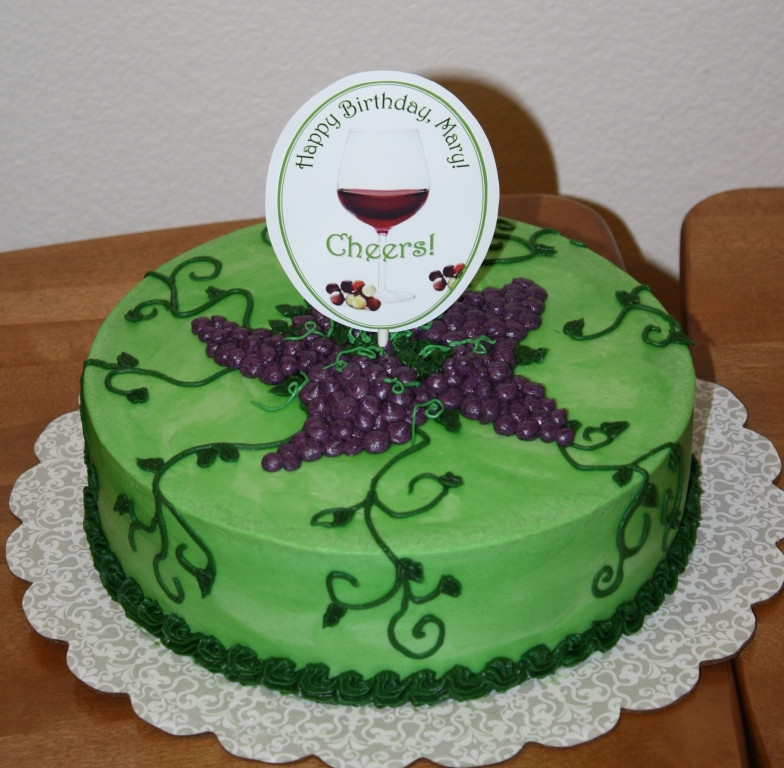 Wine Birthday Cake  Party Cakes Wine Themed Birthday Cake