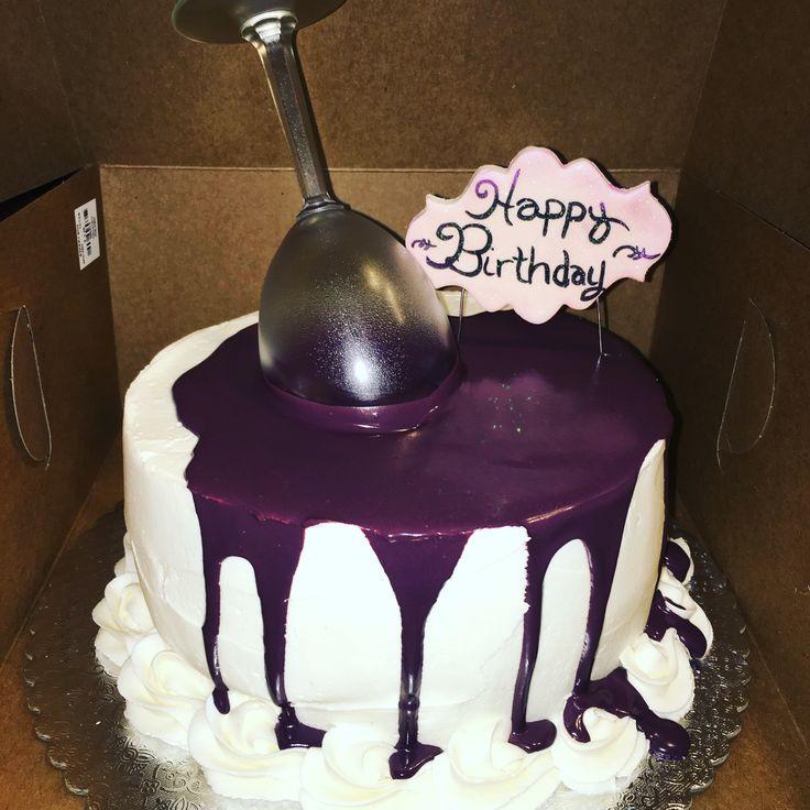 Wine Birthday Cake  152 best Krystals Kreations images on Pinterest
