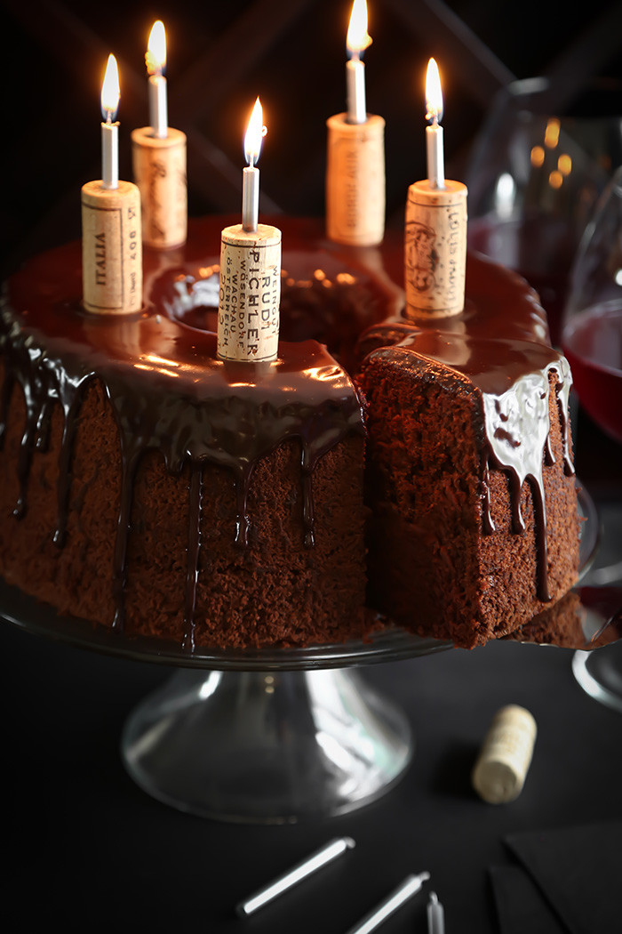 Wine Birthday Cake  Chocolate Red Wine Chiffon Cake
