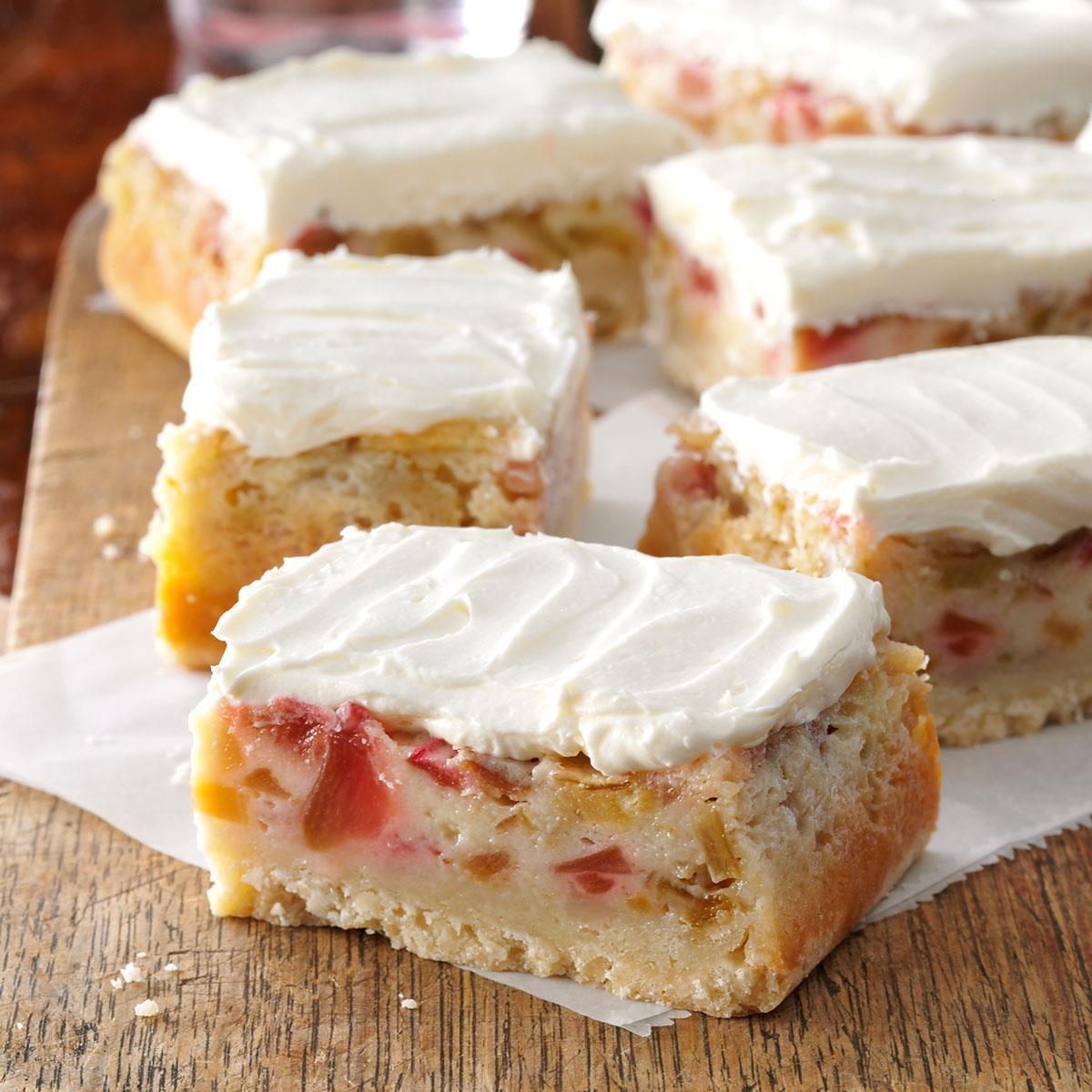 Winning Potluck Dessert Recipes  Rhubarb Custard Bars Recipe