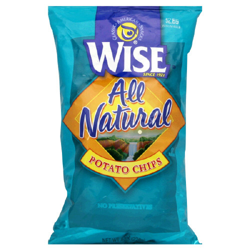 Wise Potato Chips  Wise Potato Chips All Natural 8 oz bag