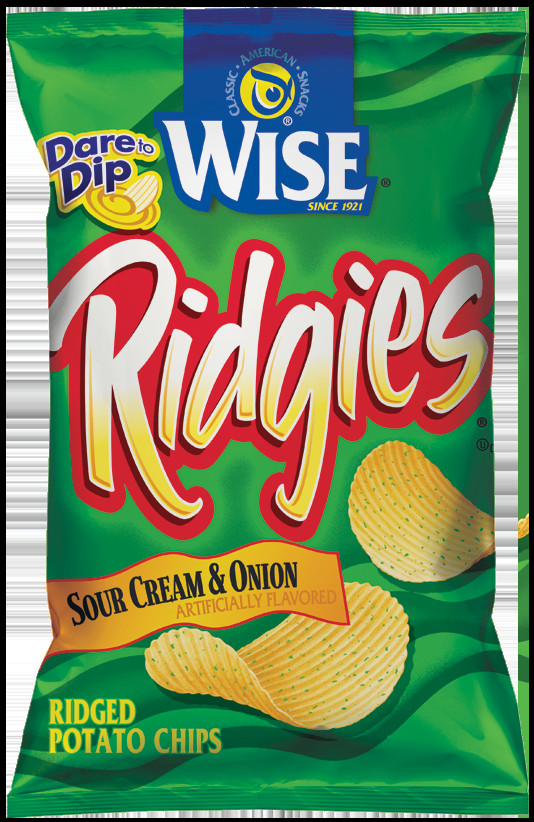 Wise Potato Chips  Ridgies Sour Cream & ion – Wise Storefront