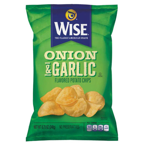 Wise Potato Chips  Wise ion & Garlic Potato Chips 6 75 oz Bags Pack of 6