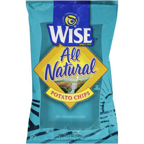 Wise Potato Chips  Wise All Natural Potato Chips 7 oz Wise