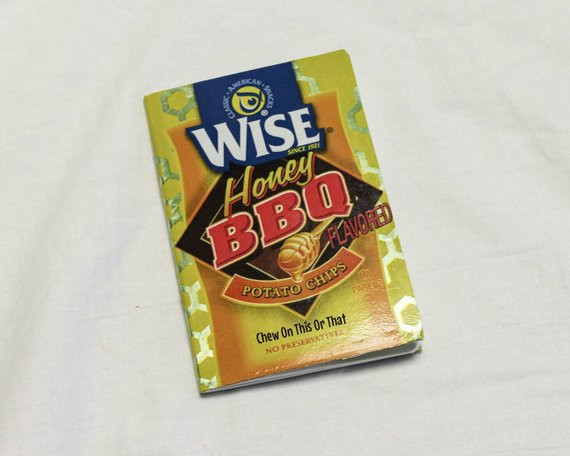 Wise Potato Chips  Wise Honey Barbecue Potato Chips Upcycle Notebook Eco Friendly