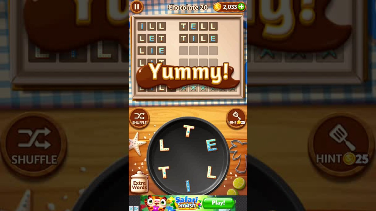 Word Cookies Chocolate 20  Word Cookies Chocolate 20