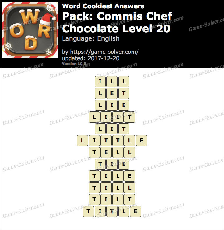 Word Cookies Chocolate 20  Word Cookies mis Chef Chocolate Level 20 Answers Game