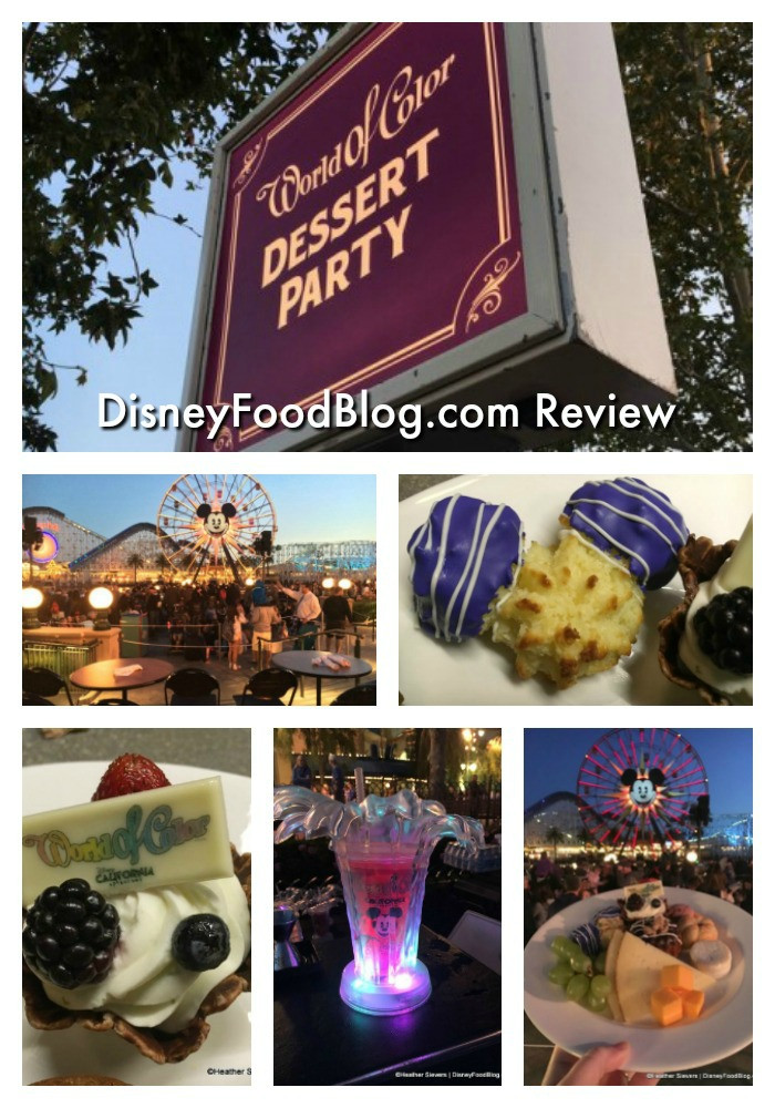 World Of Color Dessert Party  Dining in Disneyland Review World of Color Dessert Party