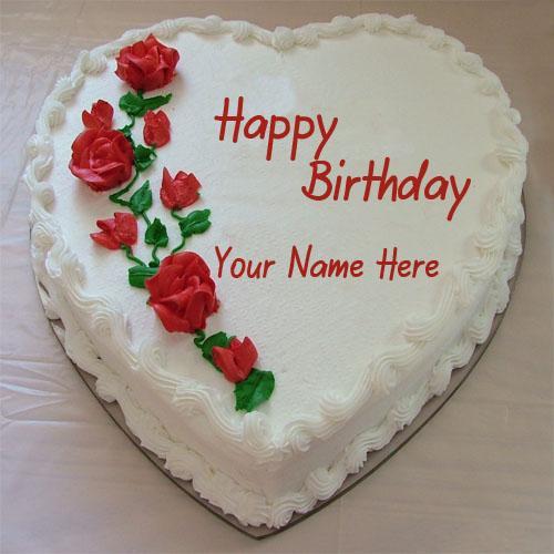Written Name On Birthday Cake  Write Name Birthday Cakes