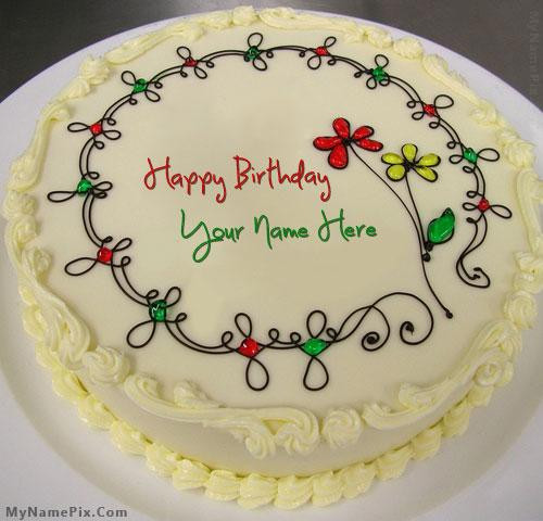 Written Name On Birthday Cake  Write Name Birthday Cake