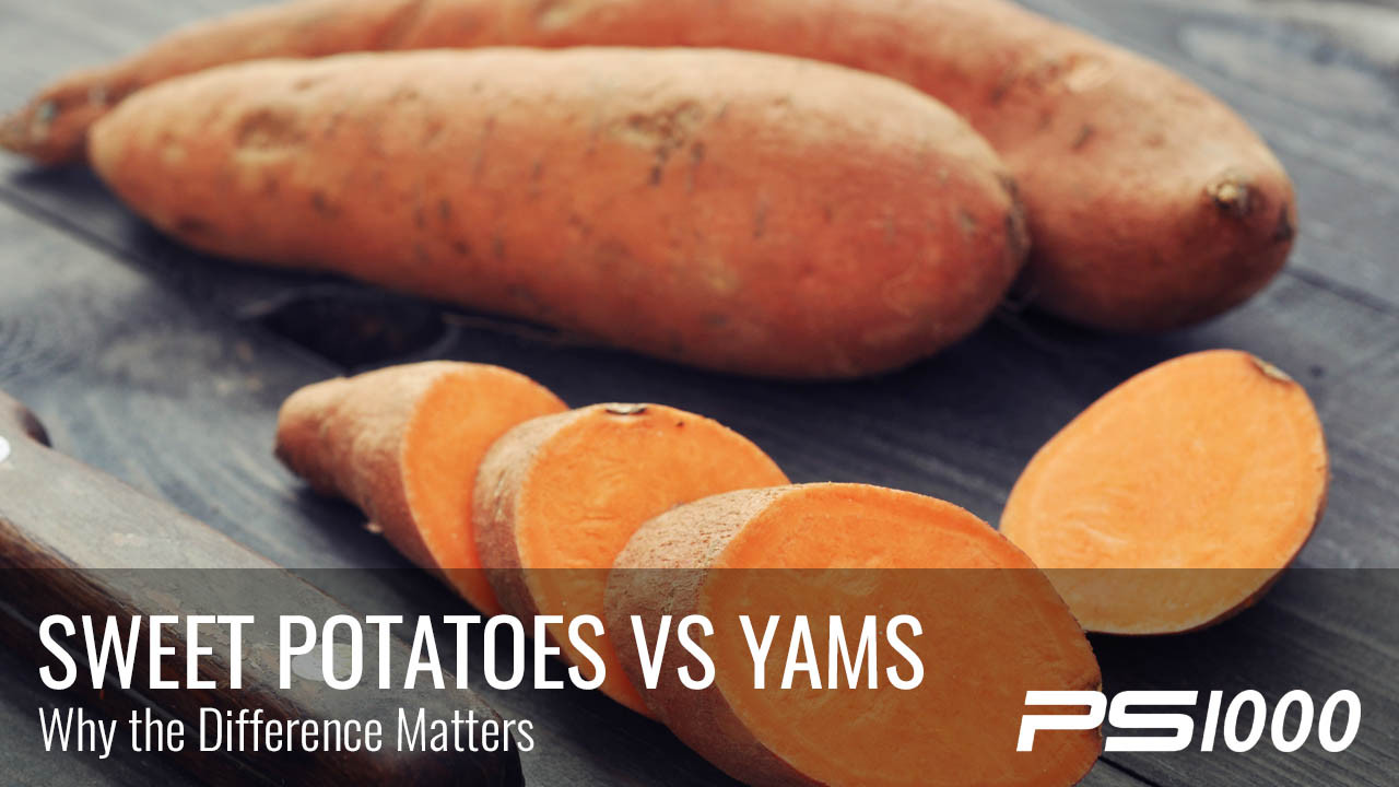 Yams Vs Sweet Potato  Sweet Potatoes vs Yams Which is Better PS1000 Blog