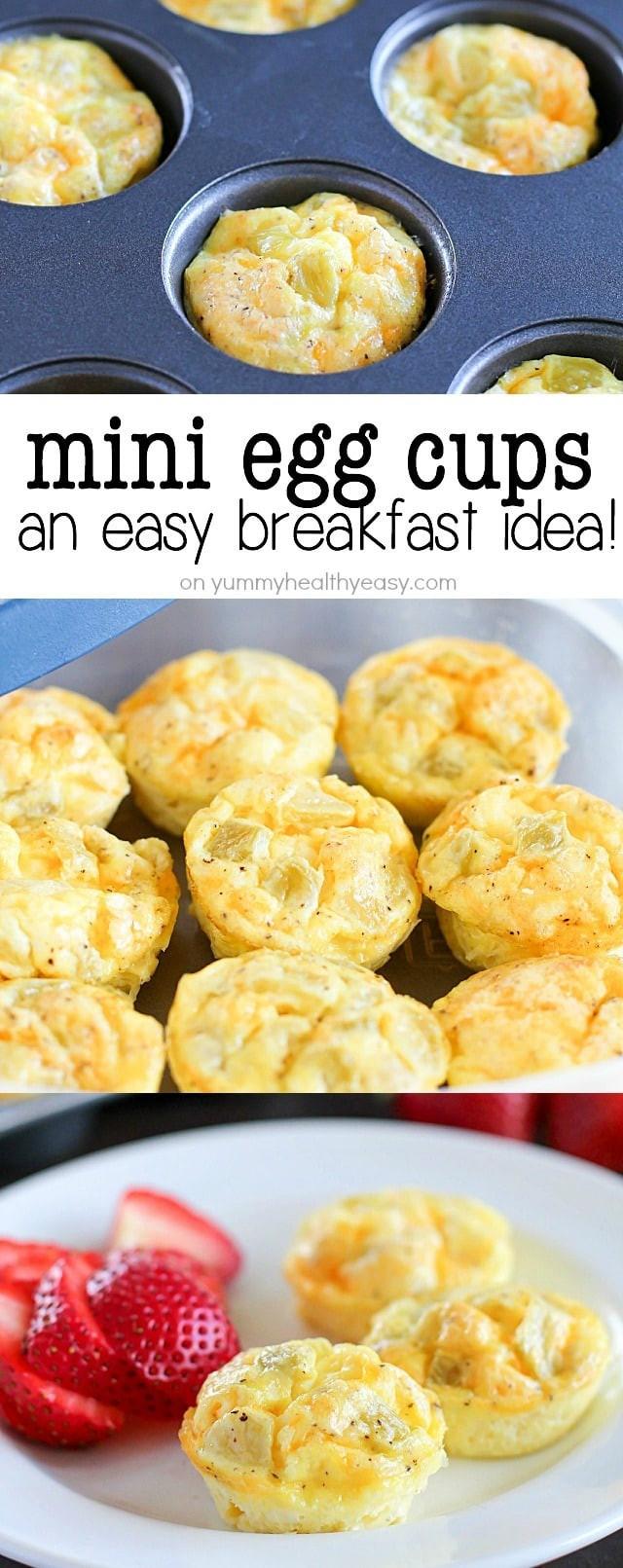 Yummy Breakfast Recipes  Mini Egg Cups A Healthy Make Ahead Breakfast Yummy