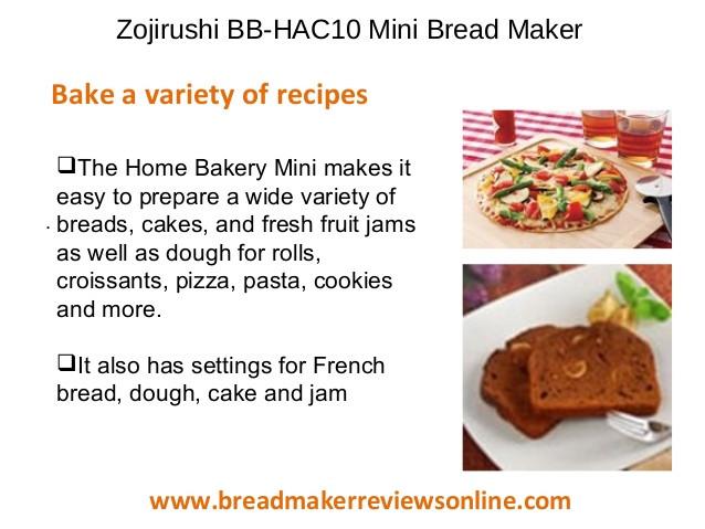 Zojirushi Bread Machine Recipes  Zojirushi bb hac10 bread maker