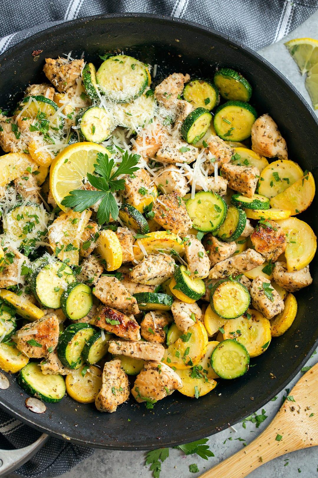 Zucchini And Chicken  skillet summer squash recipes