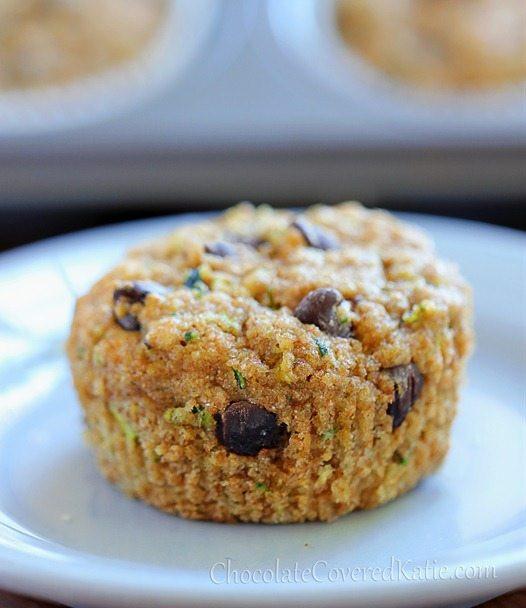 Zucchini Bread Muffins  Chocolate Chip Zucchini Muffins Deliciously Healthy