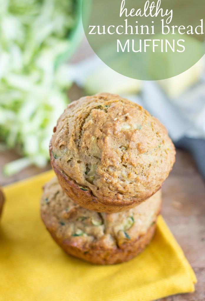 Zucchini Bread Muffins  Healthy Zucchini Bread Muffins Chelsea s Messy Apron