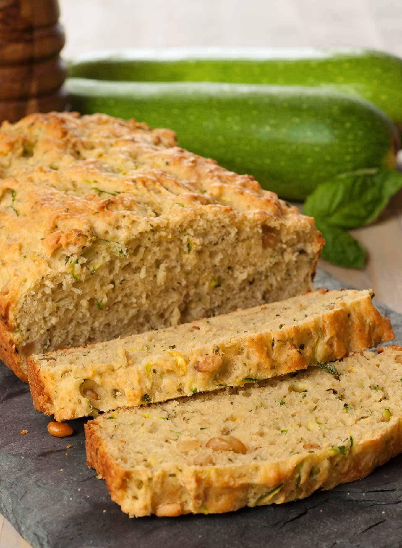 Zucchini Bread Recipe  Savory Pesto Zucchini Bread Recipe