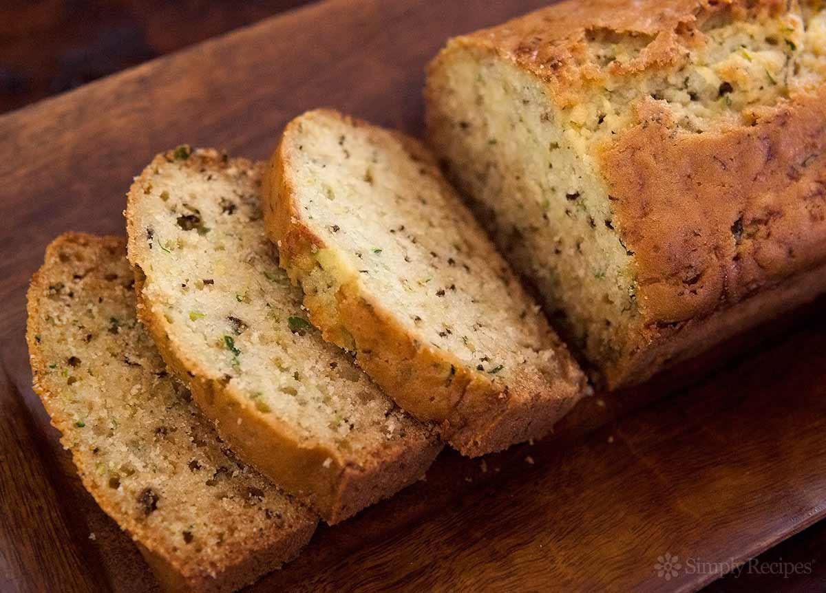 Zucchini Bread Recipe  Lemon Rosemary Zucchini Bread Recipe