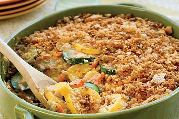 Zucchini Casserole Recipe  healthy zucchini and squash casserole