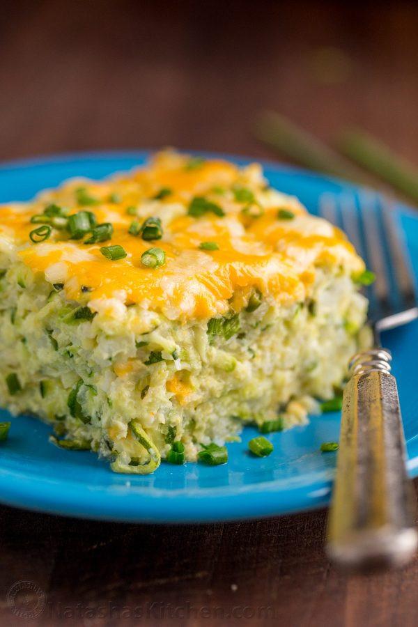 Zucchini Casserole Recipe  Cheesy Zucchini Casserole Recipe NatashasKitchen