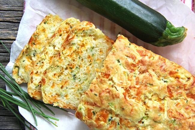 Zucchini Cheese Bread  Zucchini Cheddar Cheese & Chive Buttermilk Quick Bread