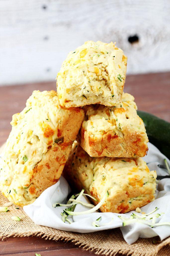 Zucchini Cheesy Bread  Cheesy Garlic Zucchini Bread