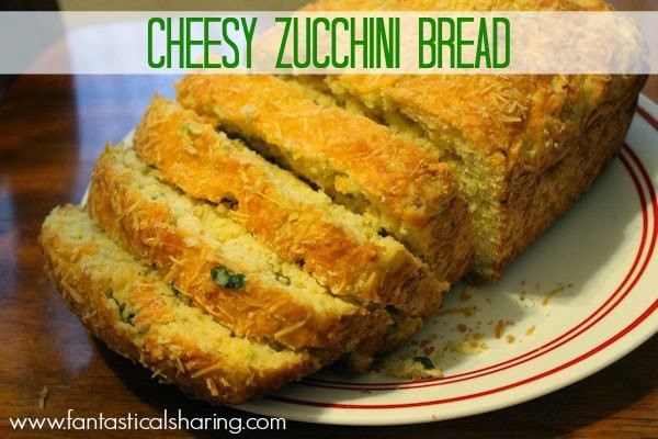 Zucchini Cheesy Bread  Fantastical Sharing of Recipes Cheesy Zucchini Bread